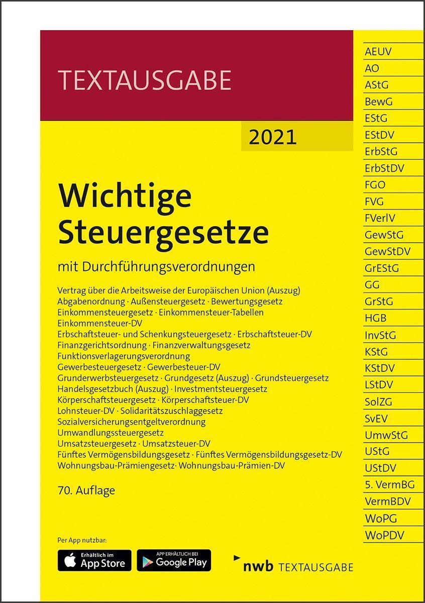 Cover: 9783482684500 | Wichtige Steuergesetze | mit Durchführungsverordnungen. | Bundle