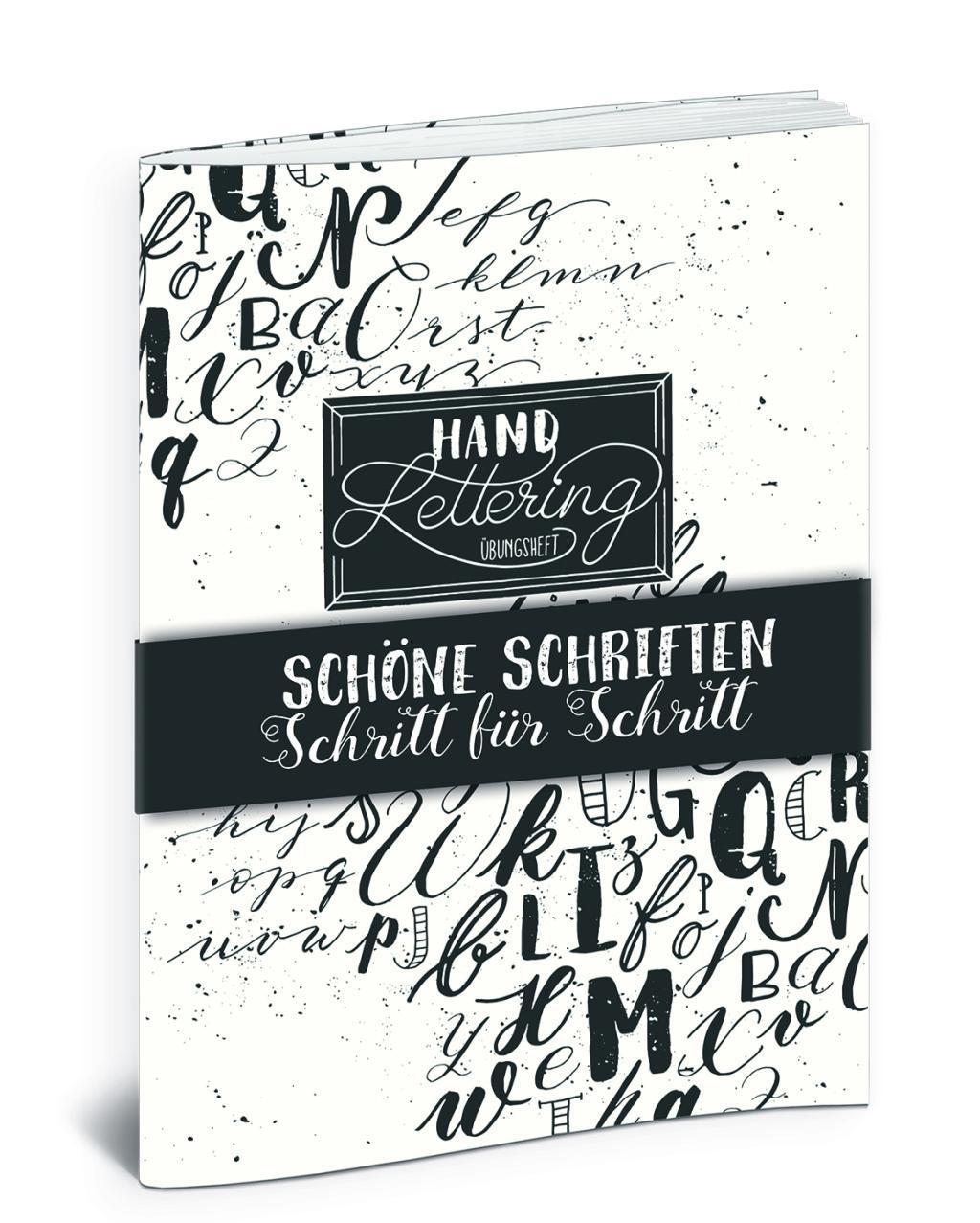 Cover: 9783943390537 | Handlettering Übungsheft | Schöne Schriften - Schritt für Schritt