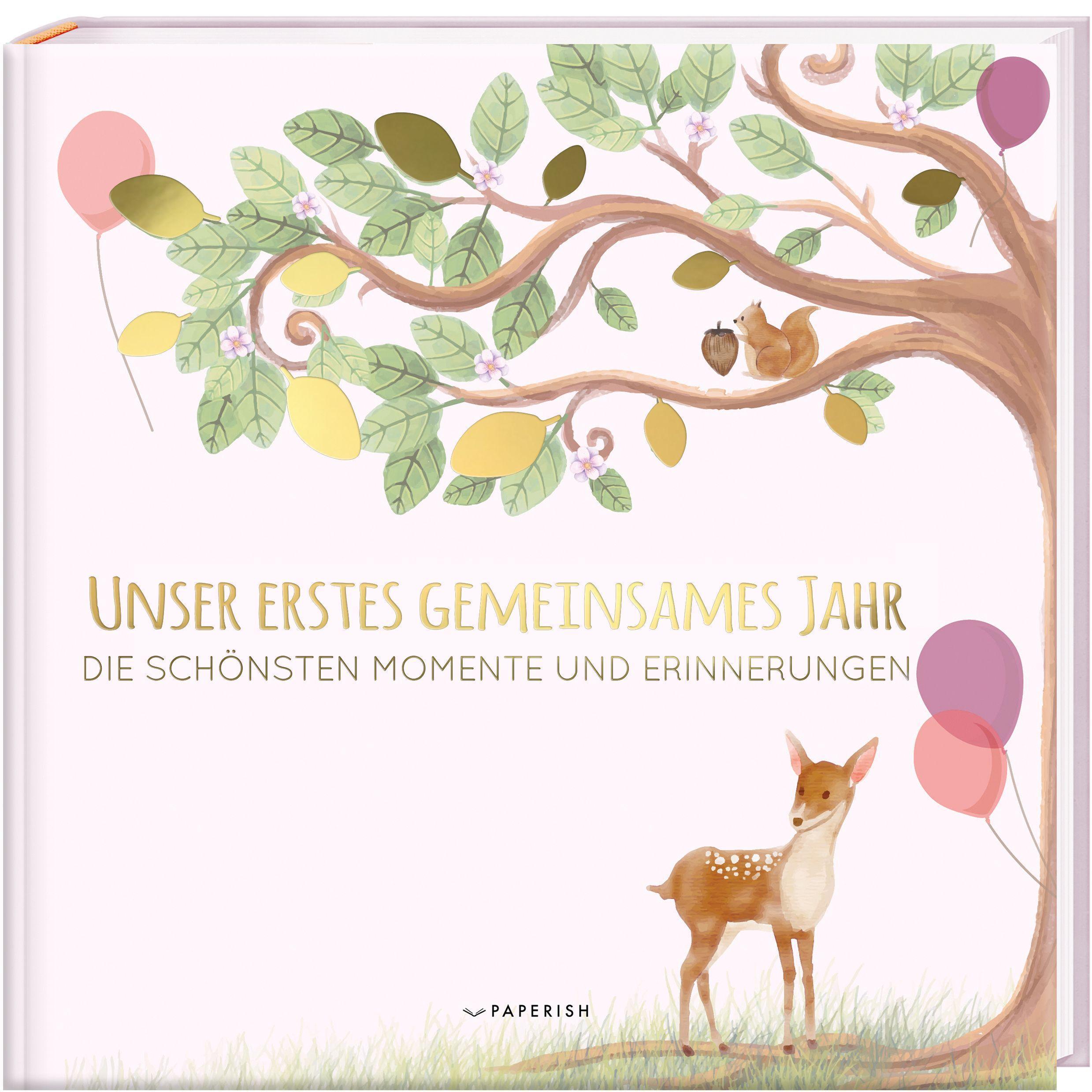Cover: 9783968950037 | Babyalbum - UNSER ERSTES GEMEINSAMES JAHR (rosé) | Pia Loewe | Buch